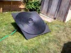 Solar pool heater    (Installer un chauffe-eau pour la piscine en boyau noir)