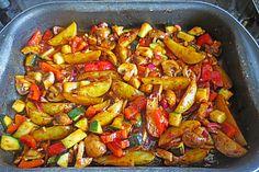 Mediterrane Kartoffel-Gemüsepfanne