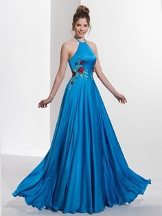 Ericdress A-Line Hater Appliques Sequins Sweep Train Prom Dress