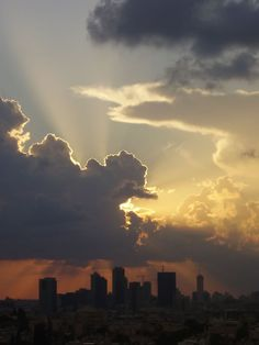 Beautiful sunrise over the city of Tel Aviv. www.facetozion.com