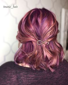 I don't even know how to describe these colors a muted metalic violet and rose gold?