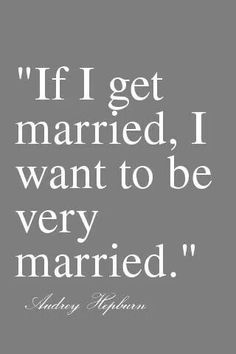 It's the only kind of married to be!