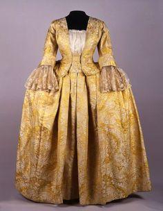 Wedding mantua, 1730-50