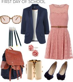 """What I would wear for the first day of school"" by natihasi on Polyvore"