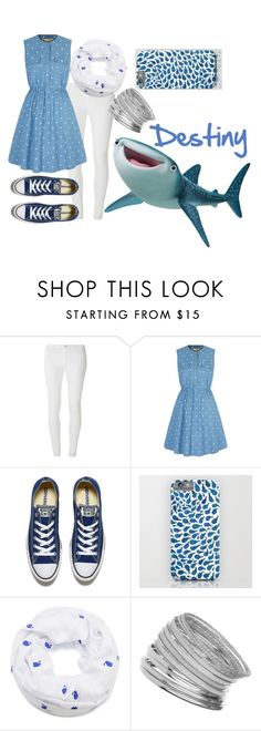"""""""Destiny the Whale Shark"""" by uniquefabulous ❤ liked on Polyvore featuring Dorothy Perkins, Yumi, Converse, Cozy by LuLu and Miss Selfridge"""