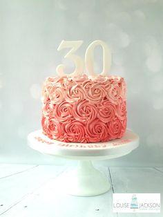 Rose swirls - Cake by Louise Jackson Cake Design