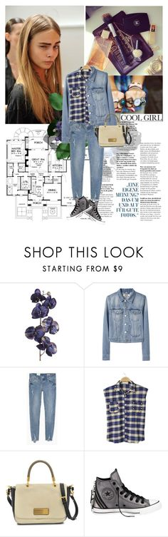 """""""Cool girl"""" by vexybabe ❤ liked on Polyvore featuring Pier 1 Imports, Acne Studios, Marc by Marc Jacobs and Converse"""