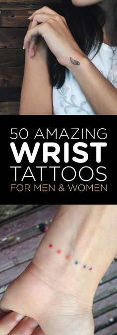 50 Amazing Wrist Tattoos for the Best of Men and Women .- 50 Amazing Wrist Tattoos zum Besten von Männer und Frauen 50 Amazing Wrist Tattoos for the Best of Men and Women - Mini Tattoos, New Tattoos, Body Art Tattoos, Faith Tattoos, Arrow Tattoos, Wrist Tattoos For Guys, Small Wrist Tattoos, Mens Wrist Tattoos, Tiny Tattoos For Women