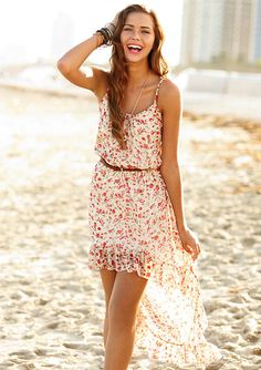 Floral High Low Dress! This is adorable! It just might be my wedding dress haha!