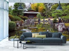 Japanese Garden MURAL Photo WALLPAPER POSTER Relaxing Yoga WALL ART Room Decor