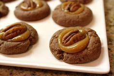 Chocolate Turtle Cookies Recipe on Yummly. @yummly #recipe