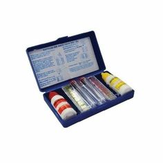 Estojo de Teste PH Cloro Pooltec.Verifica o controle dos níveis de cloro e pH no tratamento da piscina.