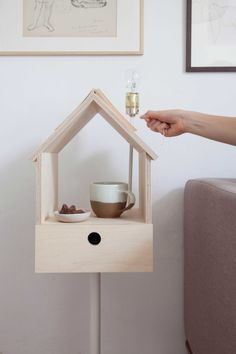 Plywood Birdhouse Storage Light by Siebring & Zoetmulder made in Netherlandsop CROWDYHOUSE