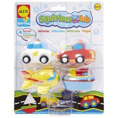 AmazonSmile: ALEX Toys Rub a Dub Squirters for the Tub Vehicles: Toys & Games