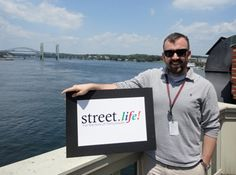 """""""In August we get to actually sit in Pleasant Street to enjoy an awesome dinner with some great people from throughout the community.""""  Chuck McMahon,   Reporter for the Portsmouth Herald."""