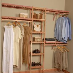Organize any closet big or small with a system that make a bold statement for a minimal price. Designed to be flexible and easily customized.