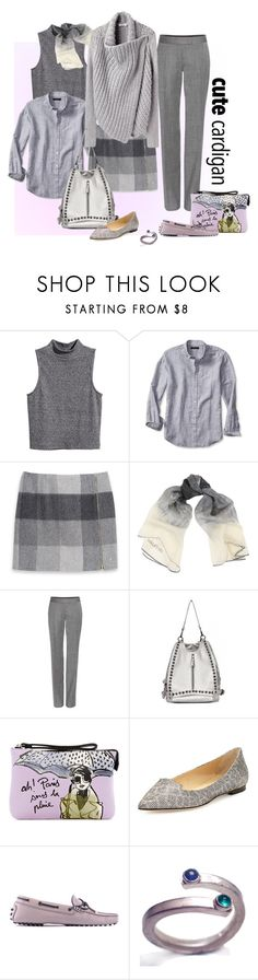 """""""My Favorite Cardigan"""" by ysmn-pan ❤ liked on Polyvore featuring H&M, Banana Republic, Tommy Hilfiger, Halston Heritage, STELLA McCARTNEY, Helmut Lang, izak, Jimmy Choo, Tod's and Catherine Marche"""
