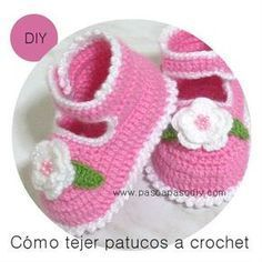 Patucos tejidos - Paso A Paso Crochet Diy, Crochet Girls, Crochet Baby Shoes, Crochet Hats, Newborn Pictures, Baby Knitting, Baby Items, Crochet Projects, Free Pattern