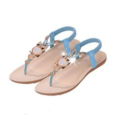 DEESEE(TM) Women Rhinestone Owl Sweet Sandals Clip Toe Sandals Beach Shoes >>> Check this awesome product by going to the link at the image.