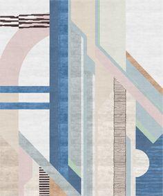 Angelina Askeri Russian / Scandinavian Rug - X Hand-Knotted Nepali Art Deco Wool, Silk Carpet Decor, Wall Carpet, Rugs On Carpet, Carpet Ideas, Stair Carpet, Hotel Carpet, Op Art, Milan, Asian Rugs