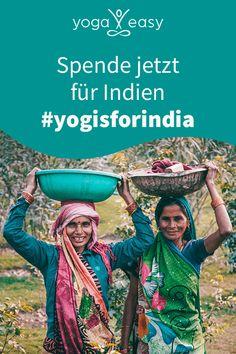 Die dritte Welle der Corona-Pandemie hat Indien, das Mutterland des Yoga, massiv getroffen. Für Yogi:nis ist es jetzt Zeit, etwas zurückzugeben und mit Spenden dafür zu sorgen, dass die schlimmste Not gelindert wird. Mach mit! Jeder Euro zählt! Yoga Meditation, Easy Yoga, Yoga Video, Yoga Inspiration, Euro, Movie Posters, Movies, Corona, Indian