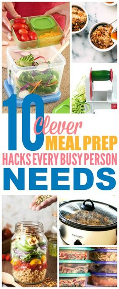 These meal prep hacks are THE BEST! I'm so happy I found these GREAT meal prep for the week tips! Now I have some great ways to make some meal prep recipes! Definitely pinning! #mealprep #mealprepideas #mealprepmondays #mealprepping