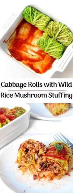 Rolls with Wild Rice Mushroom Stuffing Plant based cabbage rolls Free from dairy eggs gluten nuts soy and are veganPlant based cabbage rolls Free from dairy eggs gluten. Gluten Free Recipes For Dinner, Veggie Recipes, Whole Food Recipes, Vegetarian Recipes, Cooking Recipes, Healthy Recipes, Vegetarian Dinners, Vegan Vegetarian, Budget Recipes