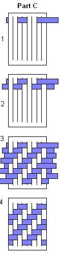 Make a zig-zag weaved place mat. It's a great variation on the classic weaved mat. Requires white