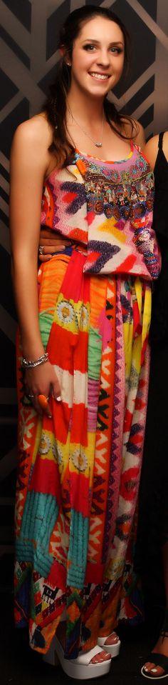 Pukekohe Ball 2015. Adore this vibrant pattern! www.whitedoor.co.nz