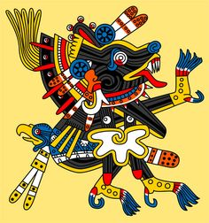 Xolotl: god of fire and of bad luck. He was the twin of Quetzalcoatl, the pair being sons of the virgin Coatlicue, and was the dark personification of Venus, the evening star. He guarded the sun when it went through the underworld at night. He also assisted Quetzalcoatl in bringing humankind and fire from the underworld. He is depicted with physical deformities, is associated with dwarves and hunchbacks, and is the patron god of twins, who were considered monstrous and were feared.