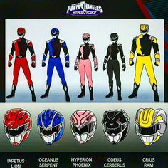 Power Rangers HyperForce Helmets/Suits Design #∆∆shani