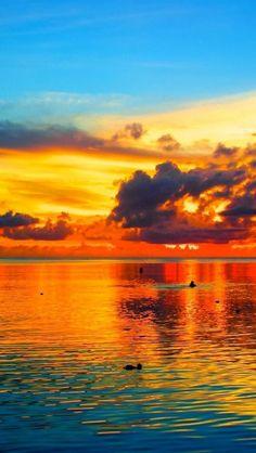 Sunset, Pacific Ocean: