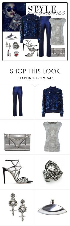 """""""Ashish Sequin Embellished Bomber Jacket Look"""" by romaboots-1 ❤ liked on Polyvore featuring Antonio Berardi, Ashish, Christian Dior, Episode, Casadei, DYLANLEX, Calvin Klein and Urban Decay"""