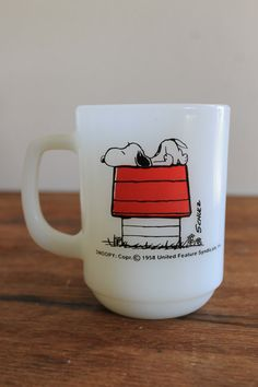 Snoopy mug. I remember one like this from my childhood
