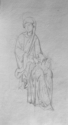 Catholic Art, Religious Art, Byzantine Art, Art Icon, Orthodox Icons, Chalk Art, Drawing Techniques, Drawing S, Amazing Art