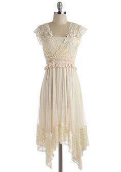 Boho Mid-length Cap Sleeves A-line Fairytale Protagonist Dress from ModCloth. Shop more products from ModCloth on Wanelo. Bohemian Lace Dress, Floral Lace Dress, Floral Dresses, Pretty Outfits, Pretty Dresses, Beautiful Dresses, Lacy Dresses, Summer Dresses, Retro Vintage Dresses