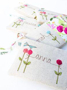 Personnalisé strass sac cadeau papier mariage fleur fille demoiselle d/'honneur page boy