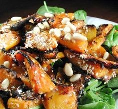 "Pumpkin or Squash Spinach Salad: ""I loved the sweetness of the pumpkin and all the different textures in this salad. It was yummy!"" -Chef floWer"