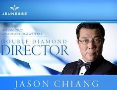 """Please join us in congratulating our newest Double Diamond Director, Jason Chiang. """"I am so humbled to be here and I would be honored to help anyone who is willing to dream. Diamond, Join, Youth, Diamonds"""