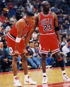 Scottie Pippen and Michael Jordan - Chicago Bulls