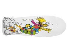 The Simpsons Limited Edition 500th Episode Bart Slasher Skateboard Deck by Santa Cruz