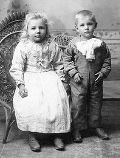 Mother Teresa and her brother.
