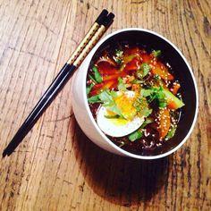 soba noodles soup