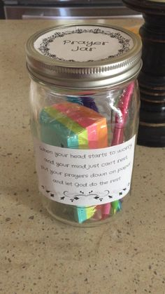 Cute prayer jar gift idea