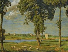 View On the Banks of the River Main near the Gerbermühle by Hans Thoma on artnet. Browse upcoming and past auction lots by Hans Thoma. Hans Holbein, Mural Painting, Painting Prints, Hans Thoma, Carl Spitzweg, Gustave Courbet, Country Scenes, Adam And Eve, Global Art