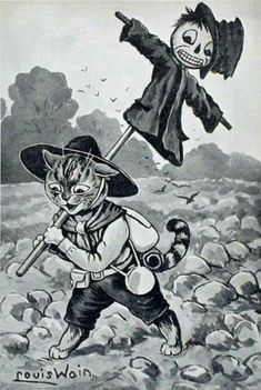 Boy Scout Caputures a German Spy Retro Halloween, Halloween Prints, Spooky Halloween, Halloween Illustration, Illustration Art, Samhain, Louis Wain Cats, Scouts, Halloween Painting