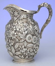 269 (Sterling, Holloware) 48 Ounce Pitcher by Jenkins & Jenkins Antique China, Antique Metal, Vintage Silver, Antique Silver, Deco Paint, Crystal Stemware, Copper Art, Silver Ornaments, Silver Work