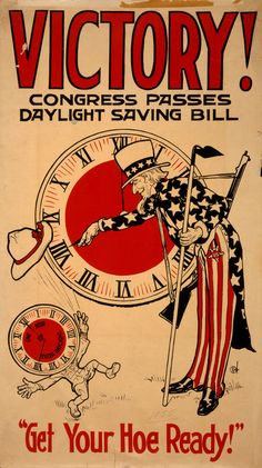 Daylight Savings Vintage Ad...Get Your Hoe Ready! | #Vintage Public Domain #Pictures