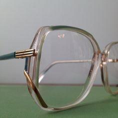 af05988e9a3 Vintage Mint Jade Seafoam Green Oversized Eyeglass Frames