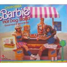 I would totally play with this and I am not even lying! Man I miss the late 80s! Barbie Hot dog stand forever!